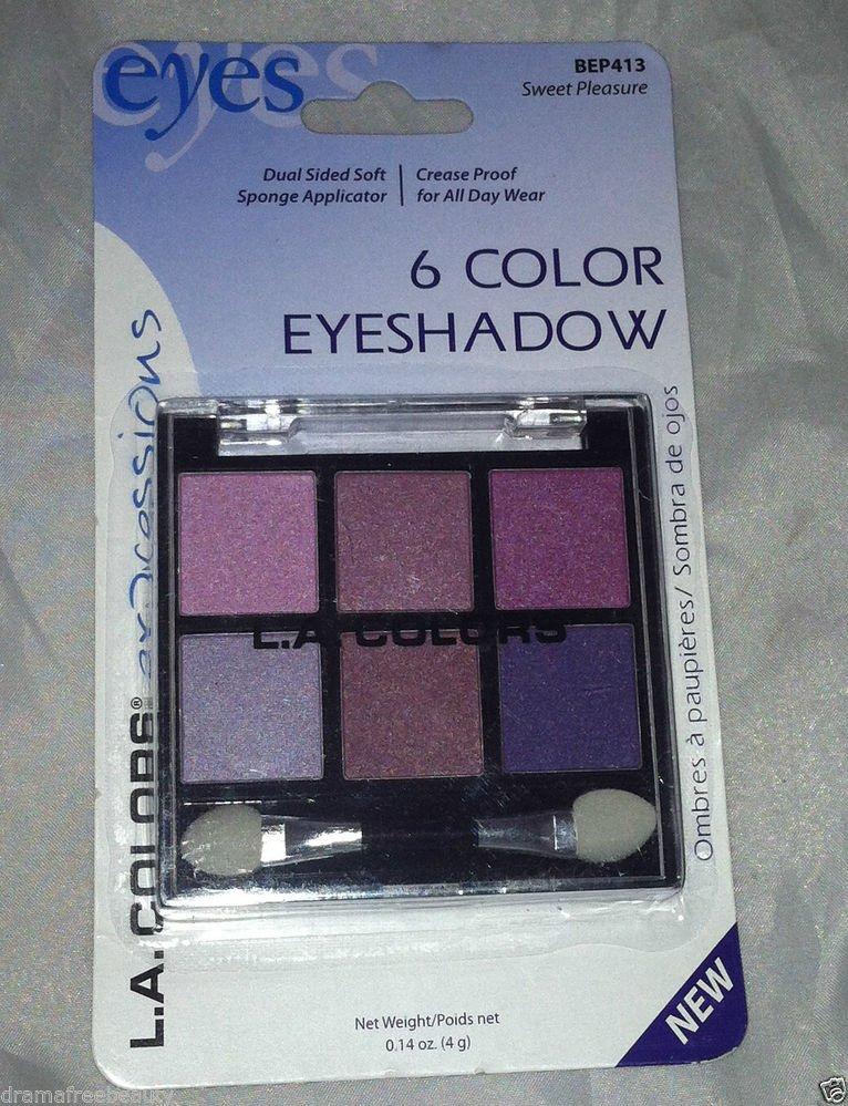 L.A. Colors 6 Color Eyeshadow Palette Set * BEP413 SWEET PLEASURE * Long Lasting