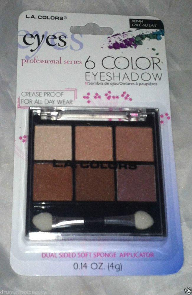 L.A. Colors 6 Color Eyeshadow Palette Set * BEP414 CAFE AU LAIT * Long Lasting
