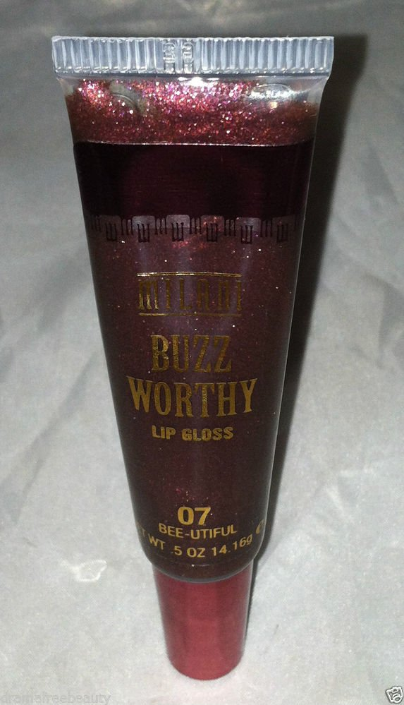 Milani Buzz Worthy Lip Gloss * 07 BEE-UTIFUL * Brand New Shimmery Copper Color