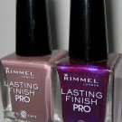 Rimmel *Lasting Finish Pro Nail Polish Lacquer* Pink, Gray, Olive, Violet, Red