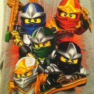 Lego NINJAGO Boys Gray Long Sleeve Shirt XL-14/16 BNWT Glows in Dark!
