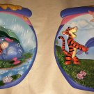 Winnie Pooh's Hunnypot Adventures 2pc Lot Bradex Collector Plates 1st/2nd Issue