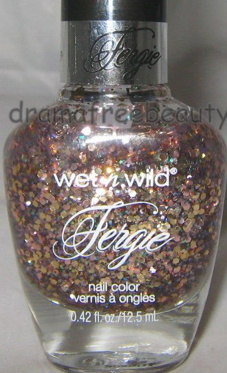 Wet n Wild FERGIE Nail Polish *FLOSSY FLOSSY* Champagne Multi-Color Hex Glitters