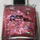 Pure Ice Nail Polish *COME CLOSER* Rose Micro-Glitter w/Pink Holo Diamonds B New