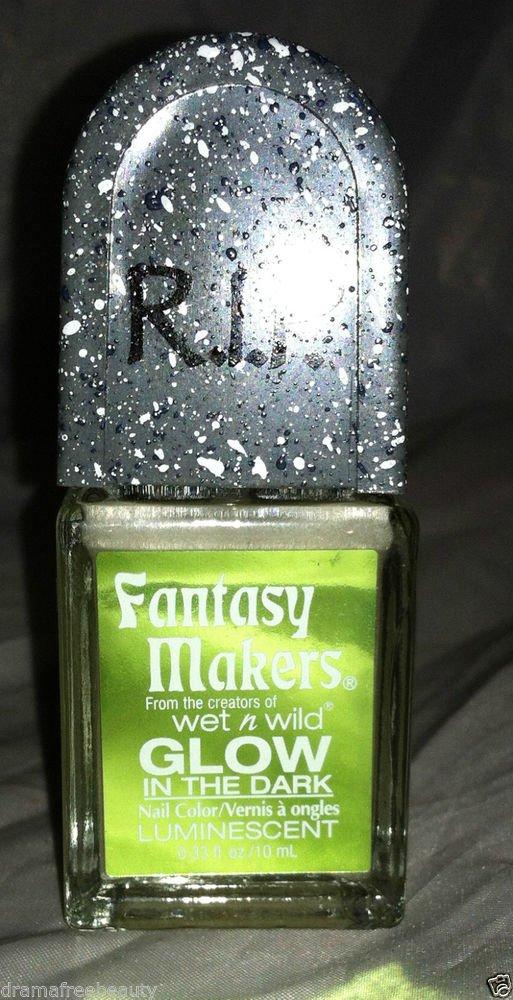 Wet n Wild RIP Fantasy Makers Nail Polish *GLOW IN THE DARK* Luminescent  New