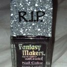 Wet n Wild RIP Fantasy Makers Nail Polish *REST IN PIECES* Black wPurple Shimmer