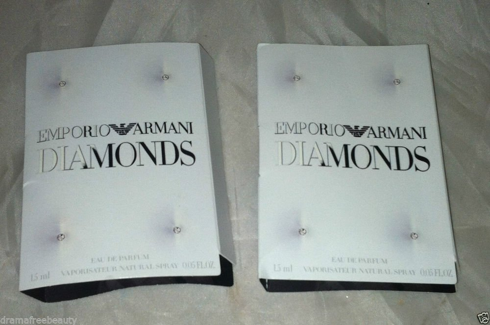 Emporio Armani Diamonds Eau De Parfum 2pc Travel / Sample Lot Brand New