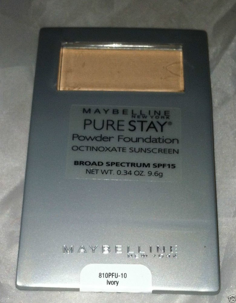 Maybelline Pure Stay Powder Foundation SPF 15 Sunscreen * 10 IVORY * Brand New