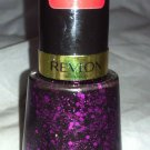 Revlon Nail Enamel Polish * 761 SCANDALOUS * Black Jelly Base w/ Purple Micro BN
