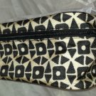 Estee Lauder Makeup/Cosmetics Bag Case Zipper Top Black Tan Brand New