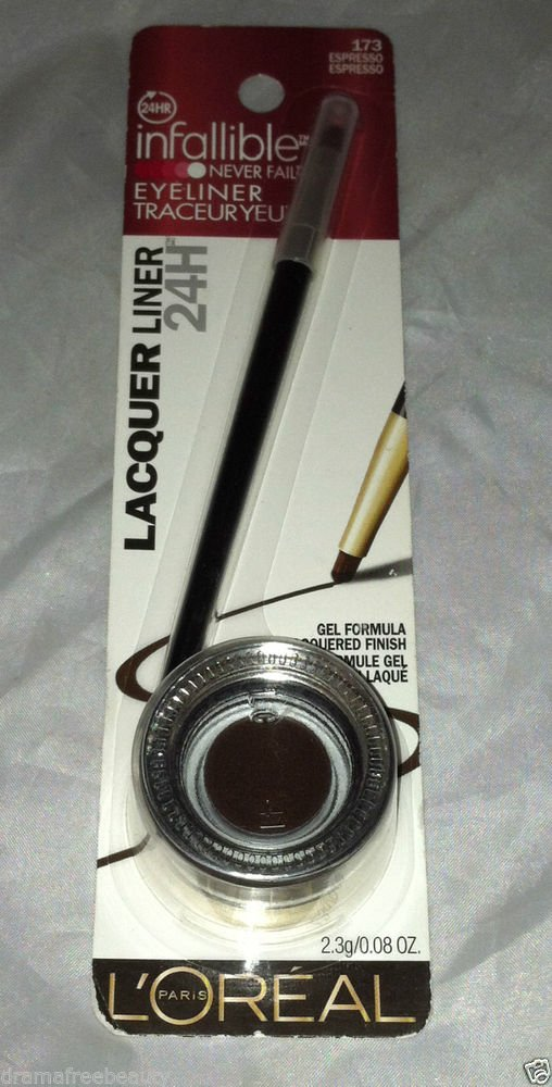L'Oreal Infallible Gel Lacquer Eyeliner * 173 ESPRESSO * Dark Brown Sealed New