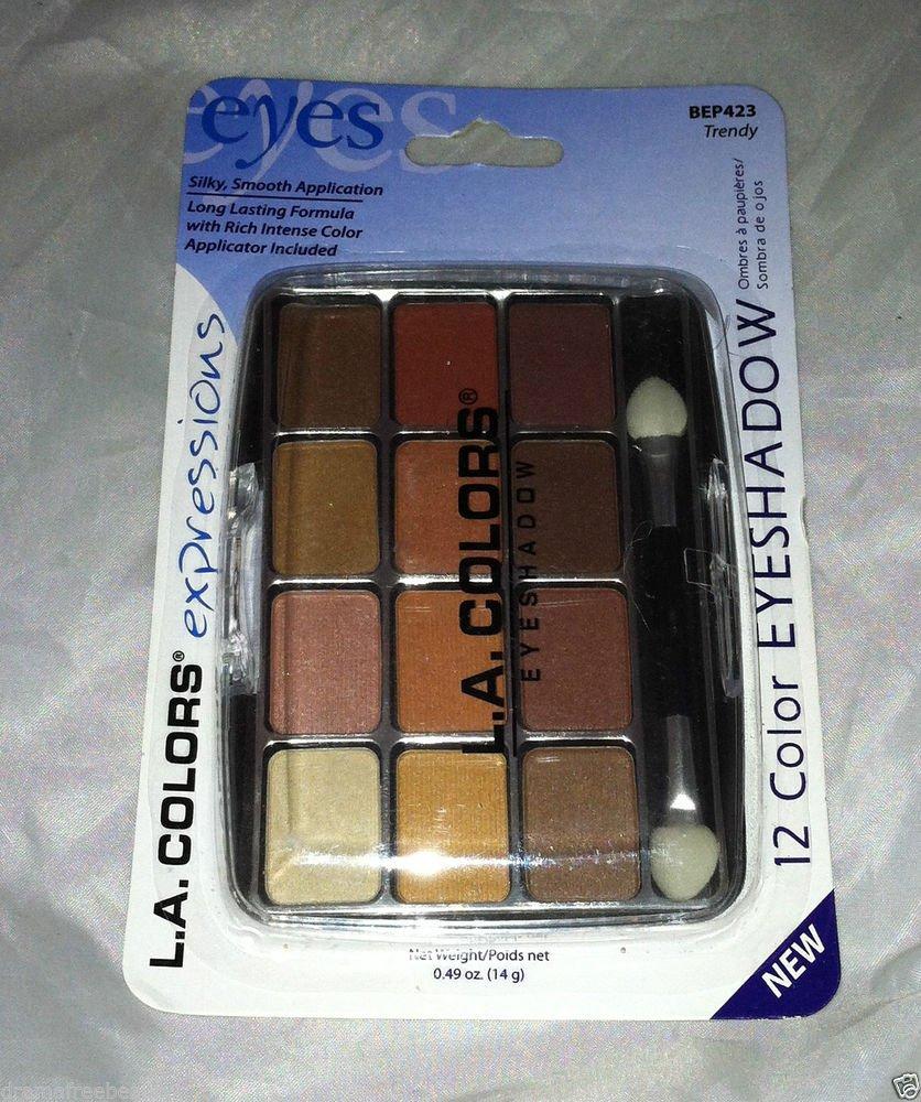 L.A. Colors 12 Color Eyeshadow Palette Set * BEP423 TRENDY * Long Lasting New