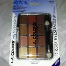 L.A. Colors 12 Color Eyeshadow Palette Set * BEP423 TRENDY * Long Lasting New
