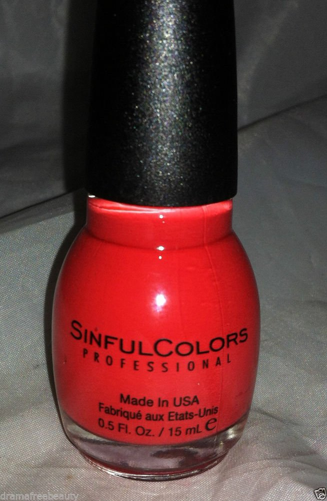 Sinful Colors Nail Polish * LACED UP * Poppy Red Matte Shade Brand New