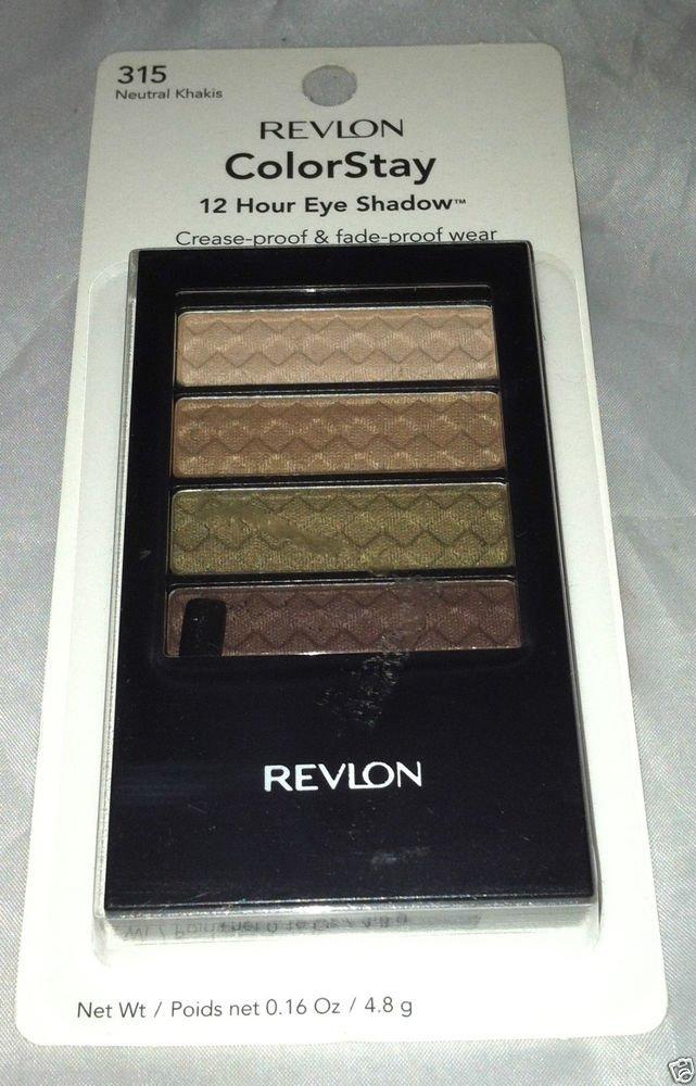 Revlon Colorstay 12 Hour Eyeshadow * 315 NEUTRAL KHAKIS * Rich Beautiful Color