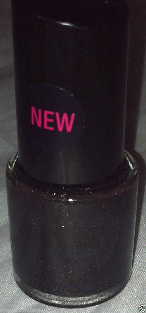 Wet n Wild Mega Last Nail Color Polish * 218 BLACKMAIL * Black w/Gold Shimmer BN