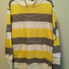 NWT Route 66 Yellow/Brown/White Long Sleeve Hooded Pullover Shirt BOYS SMALL 6/7