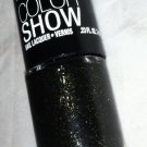 Maybelline Lmtd Color Show Nail Sequins 240 *TWILIGHT RAYS* Black w/Gold Glitter