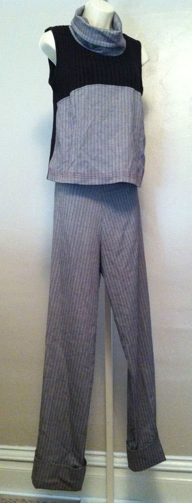 Noppies Maternity Suit/Outfit Sleeveless Turtle-NeckTop w/Trouser Pants Medium/M