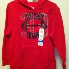 Jumping Beans Boys/Toddlers Medium 5/6 Red Hoodie/Pull Over Sweater BNWT