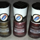 Nabi Magnetic Nail Polish 3pc Lot * 03 CANDID/23 WALNUT/04 CINNAMON * Red Pink