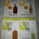Juice Beauty 4pc Sample/Travel Lot Cleansing Gel Oil-Free Moisturizer Organic BN