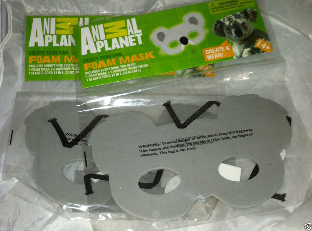 Animal Planet Create Your Own Foam Koala Face Mask Birthday/Halloween Kids Craft