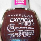 Maybelline Lmt Ed Express Finish Nail Polish 110 *PURPLE TREND* Brown w/Blue Sh