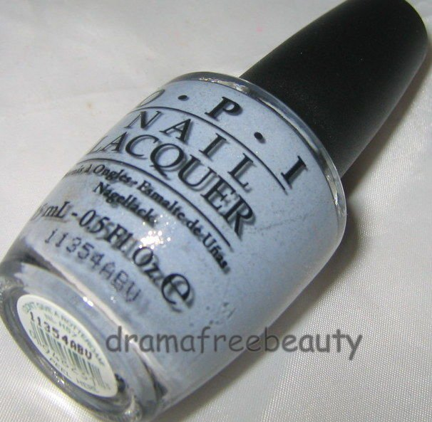Opi HOLLAND Nail Lacquer Polish *I DON'T GIVE ROTTERDAM!* Blue Grey w/Shimmer BN