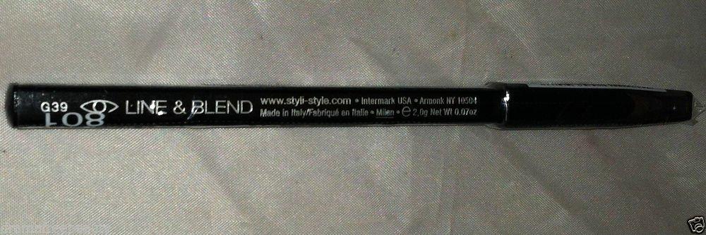 Styli-Style Line & Blend Squared Eye Pencil * 801 BLACKEST BLACK * Sealed New