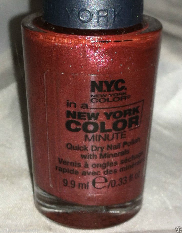 N.Y.C. New York Color In a Minute Nail Polish *238B BROADWAY* Quick Dry w/ Min.