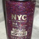 N.Y.C. New York Color In a Minute Nail Polish *BIG CITY DAZZLE* Sparkle Topcoat