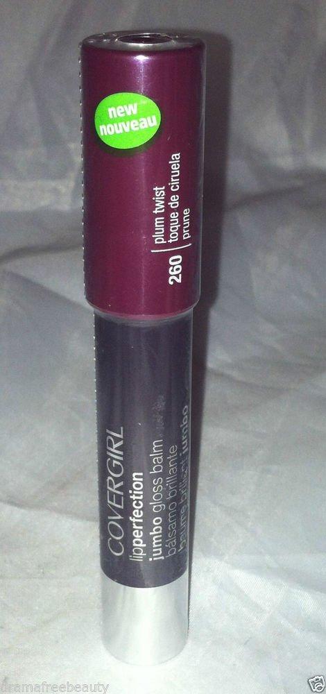 Cover Girl Lip Perfection Jumbo Tinted Lip Gloss Balm * 260 PLUM TWIST * Sealed