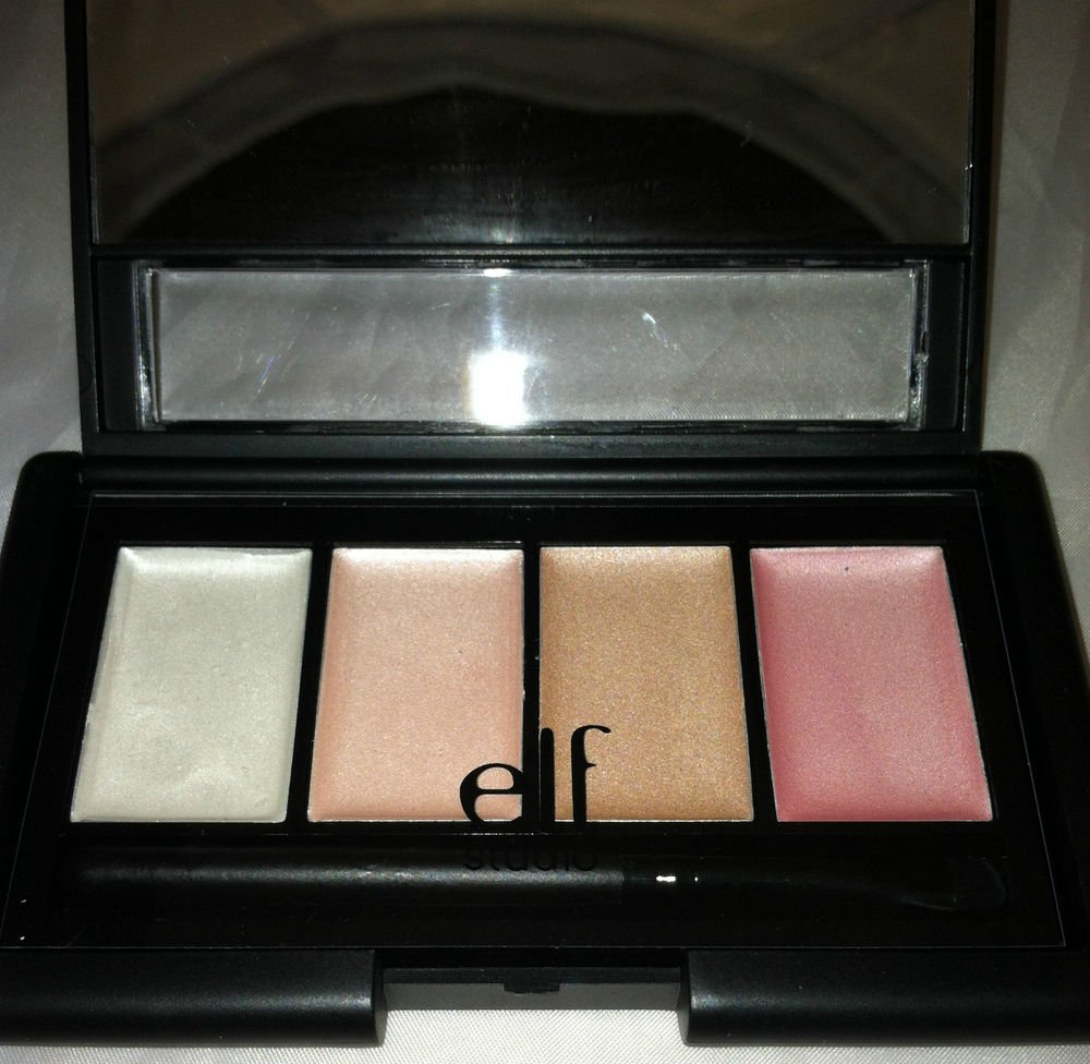 E.L.F. Shimmering 4 Color Palette # 83321 Weightless Creamy Healthy Glow BNIB