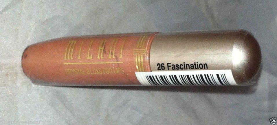 Milani Crystal Lip Gloss * 26 FASCINATION *Pinkish-Brown Sealed Brand New