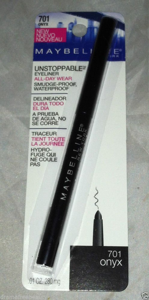 Maybelline Unstoppable Waterproof Eyeliner * 701 ONYX * All-Day Wear Sealed