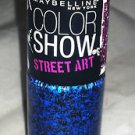 Maybelline Color Show Nail Polish Street Art * 52 NIGHTTIME NOISE *  Blue/Black