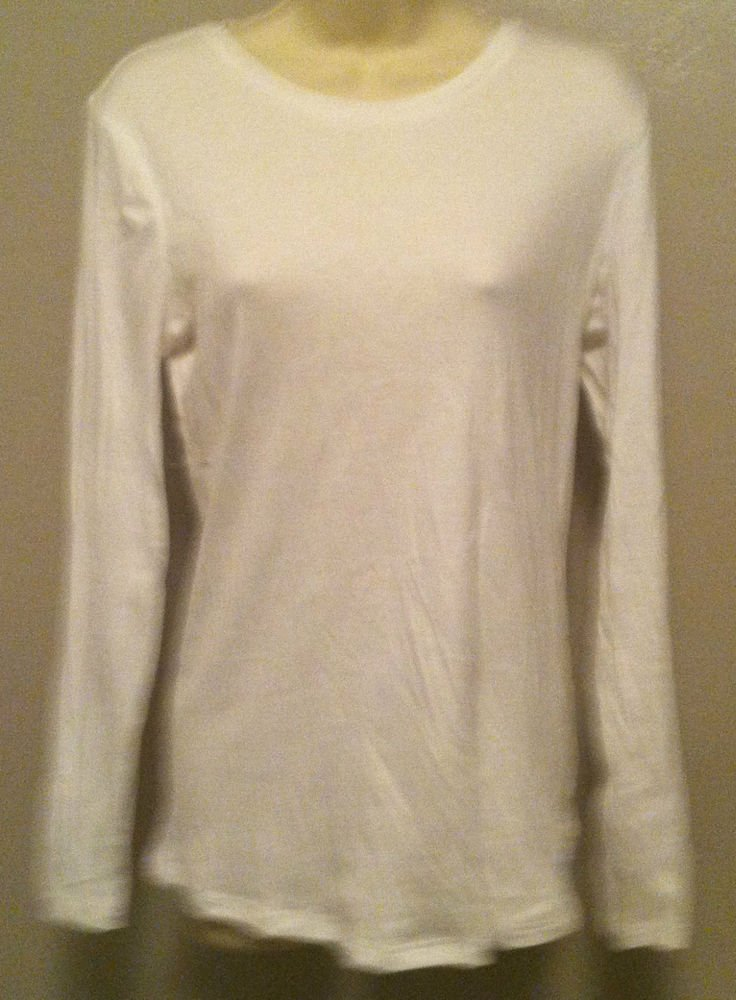 Old Navy Maternity Top Womens Size Medium White Long Sleeve 100% Cotton Nice