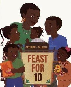 Feast for 10 by Cathryn Falwell (2003, Board Book)