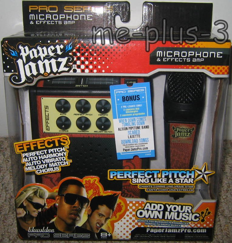 Paper Jams Microphone And Effects Amp *Perfect Pitch* Sing like a star! BNIB