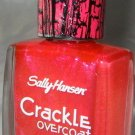 Sally Hansen CRACKLE Overcoat #10 *CORAL COLLIDE* Sheer Pink Coral Shimmer B New