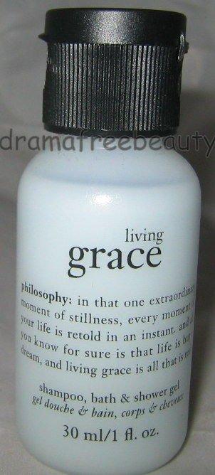 Philosophy *LIVING GRACE* Shampoo Bath & Shower Gel 30ml./1oz. Travel Mini B New