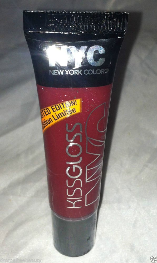 NYC Kiss Gloss Limited Edition * BLOOD RED * Sealed Brand New