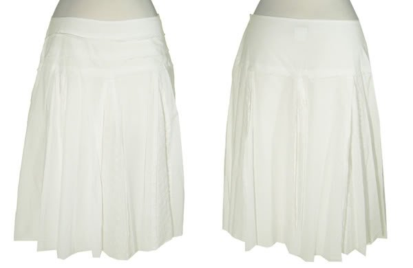 SPEECHLESS Lined White Frayed Zippered Skirt w/Embroidery Eyelet Sze 11 BNWT $47