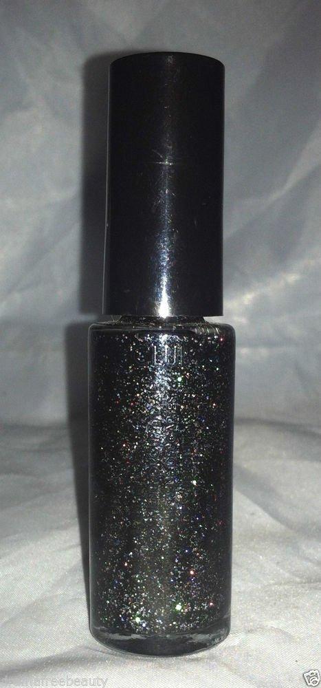 Color Club Art  * NA48 BLACK HOLOGRAM * Striping Nail Polish Holographic Glitter