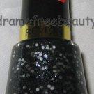 BN Revlon BUBBLE GUM DAYS Nail Polish 780 *RITZY* Black Silver Hex Micro Glitter