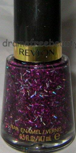 BN Revlon Lmt SPARKLE Nail Polish *BRILLIANT BORDEAUX* Black Purple Holo Glitter
