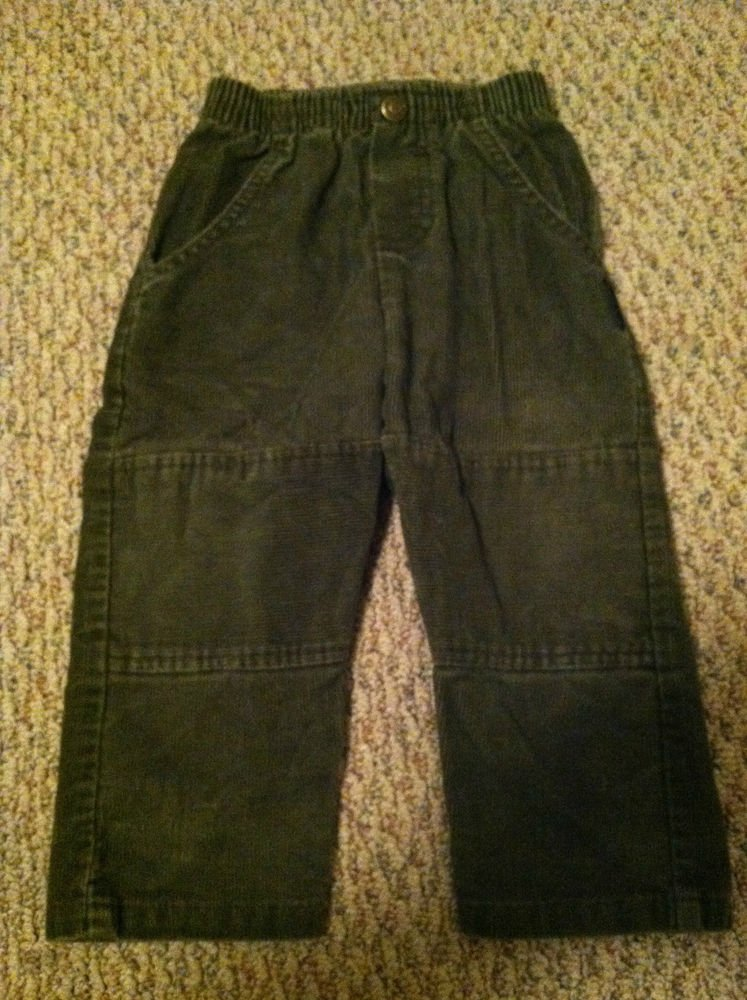 Health Tex Boys/Toddlers/Infants Green Corduroy Pants Size 2T