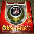 Digital Photo Ornament Gold Holds 59 Photos Slide Show or Single Pic display NIB