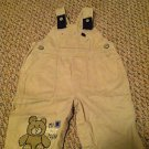 Carter's Boys/Toddlers/Infants 6 months Khaki Overalls Teddy Bear Design